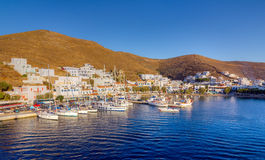 Merichas port, Kythnos island, Cyclades, Greece Royalty Free Stock Photos