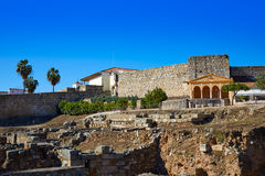 Merida Alcazaba in Spain Badajoz Extremadura Royalty Free Stock Photo