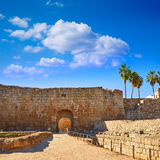Merida Alcazaba in Spain Badajoz Extremadura Royalty Free Stock Image