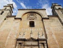 Merida Cathedral i Yucatan Mexico Fotografering för Bildbyråer