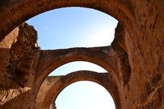 Merida, circo romano, archs Fotografia Stock Libera da Diritti