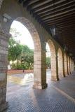 Merida city arcade arcs of Yucatan Mexico. Merida city arcade arcs of Yucatan in Mexico Stock Photography