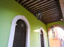 Merida city arcade arcs of Yucatan Mexico. Merida city arcade arcs of Yucatan in Mexico Stock Image
