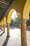 Merida city arcade arcs of Yucatan Mexico Stock Photos