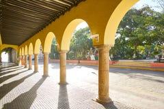 Merida city arcade arcs of Yucatan Mexico. Merida city arcade arcs of Yucatan in Mexico Royalty Free Stock Images