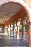 Merida city arcade arcs of Yucatan Mexico. Merida city arcade arcs of Yucatan in Mexico Royalty Free Stock Photography