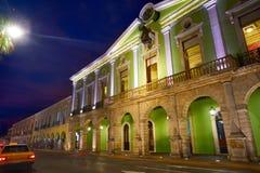 Merida city colorful facades Yucatan Mexico Royalty Free Stock Photos