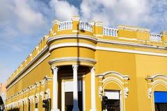 Merida city colorful facades Yucatan Mexico Royalty Free Stock Images