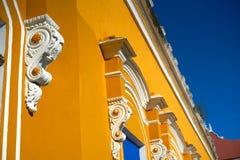 Merida city colorful facades Yucatan Mexico. Merida city colorful facades of Yucatan in Mexico Stock Images