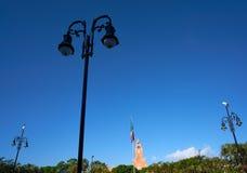 Merida city park of Yucatan Mexico Royalty Free Stock Photos