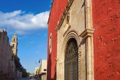 Merida city Rosario Chapel of Yucatan Stock Image
