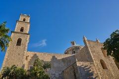 Merida city Tercera Orden church Yucatan Stock Images