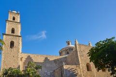 Merida city Tercera Orden church Yucatan Stock Photo