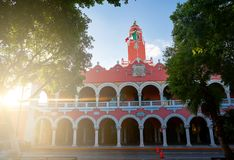 Merida city Town hall of Yucatan  Mexico Royalty Free Stock Photography