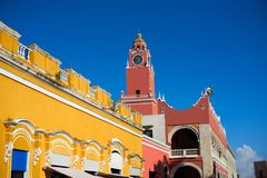 Merida city Town hall of Yucatan  Mexico Stock Photos