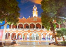 Merida city Town hall of Yucatan  Mexico Royalty Free Stock Images
