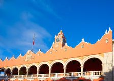 Merida city Town hall of Yucatan  Mexico Stock Photography