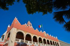Merida city Town hall of Yucatan  Mexico Royalty Free Stock Photos