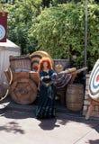 Merida Disney Character. Merida from the Disney Movie Brave at Disneyland in California royalty free stock photography