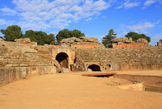 Merida, Extremadura, Spain. Roman amphitheatre. Stock Photography