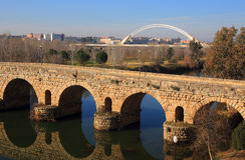 Merida, Extremadura, Spain. Roman bridge. Royalty Free Stock Photography