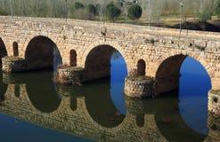 Merida, Extremadura, Spain. Roman bridge. Royalty Free Stock Photos