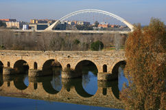 Merida, Extremadura, Spain. Roman bridge. Royalty Free Stock Photo