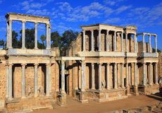 Merida, Extremadura, Spain. Roman theatre. Royalty Free Stock Photo
