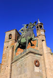 Trujillo, Extremadura, Spain. Equestrian statue of Fransisco Pisarro Stock Photo