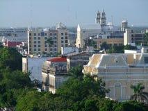Merida. High angle view of Merida in Yucatan, Mexico Stock Image