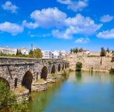 Merida i den roman bron för Spanien ingång Royaltyfri Bild