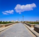 Merida i den roman bron för Spanien ingång Fotografering för Bildbyråer
