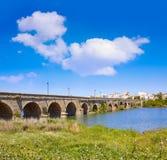 Merida i den roman bron för Spanien ingång Royaltyfria Bilder