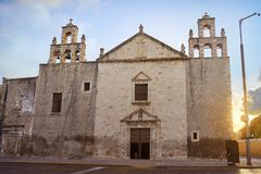 Merida Iglesia Mejorada church in Yucatan Royalty Free Stock Photos