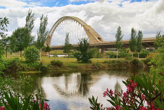 Merida new bridge Stock Image