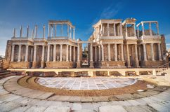 Merida roman teater, Merida, Extremadura, Spanien arkivfoton