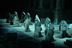 Merida Roman Theater Festival kapacitet Arkivbild