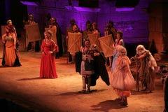 Merida Roman Theater Festival kapacitet Arkivbilder