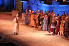 Merida Roman Theater Festival kapacitet Arkivfoton