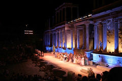 Merida Roman Theater Festival kapacitet Royaltyfri Bild