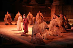 Merida Roman Theater Festival-Leistung lizenzfreies stockbild