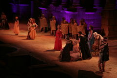 Merida Roman Theater Festival performance Royalty Free Stock Images