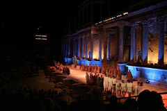 Merida Roman Theater Festival performance Royalty Free Stock Photography