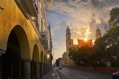 Merida San Idefonso cathedral Yucatan Stock Photography