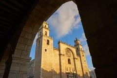 Merida San Idefonso cathedral of Yucatan stock images