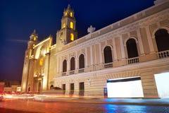 Merida San Idefonso cathedral of Yucatan stock image