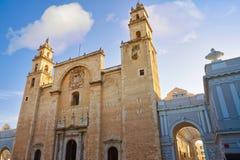 Merida San Idefonso cathedral of Yucatan Stock Photography