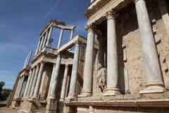 Merida Spain. The Roman Theatre (Teatro Romano) at Merida in Extremadura, Spain. Merida is home to some of Spain's finest Roman ruins Royalty Free Stock Photo