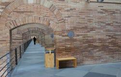 Side access corridor  of National Roman Art Museum in Merida, Sp. Merida, Spain - December 20th, 2017: National Roman Art Museum in Merida, Spain designed by Stock Photos