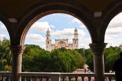 Merida Yucatan cathedral Stock Photography